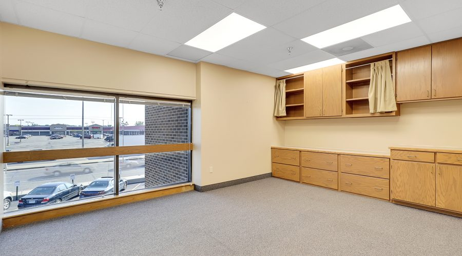 Suite 217 Built-in cabinets and large windows