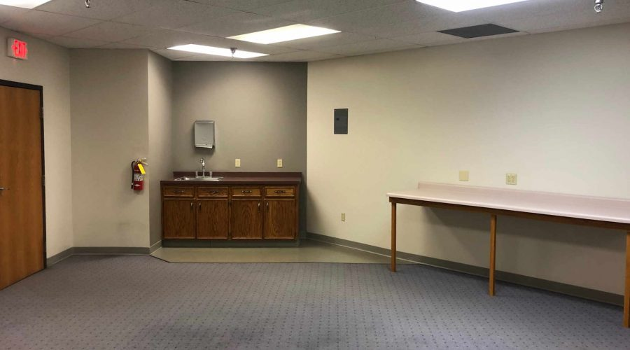 Suite 214 Midtown Square Built-in Sink and Waiting Area